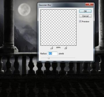 balcony shadow gaussian blur