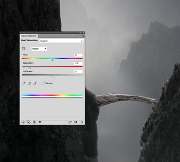 arch hue saturation