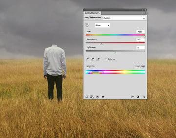 model hue saturation
