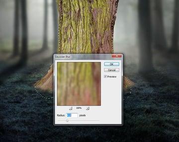 tree gaussian blur