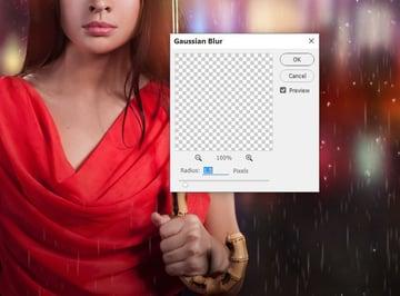 rain gaussian blur