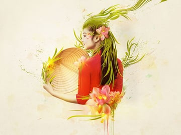 Abstract Vietnamese Photo Manipulation Photoshop Tutorial