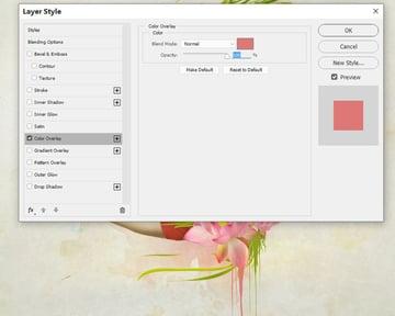 change splatter 1 color overlay