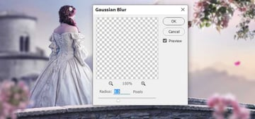 petal gaussian blur