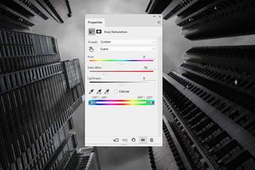 buildings hue saturation
