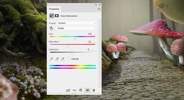 mushrooms 6 hue saturation