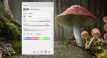 mushrooms 2 hue saturation
