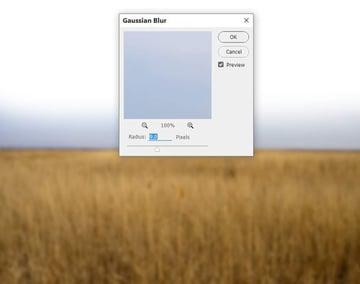 field gaussian blur