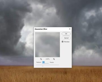 sky 1 gaussian blur
