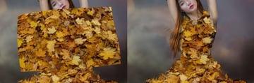 add upper leaf dress