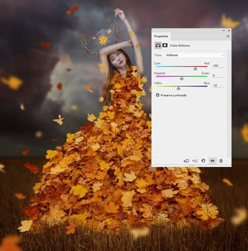 leaves color balance