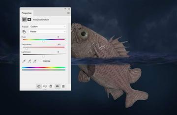 fish hue saturation