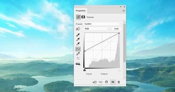 boat photomanipulation -  landscape 2 curves