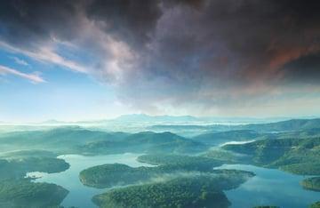 boat photomanipulation - sky masking
