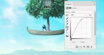 boat photomanipulation - model curves 1