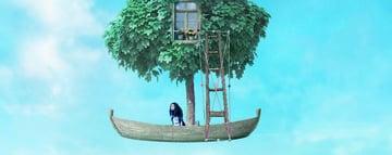 boat photomanipulation - ladder transform