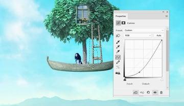 boat photomanipulation - ladder curves 2