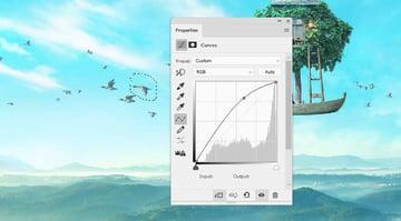 boat photomanipulation - big bird curves