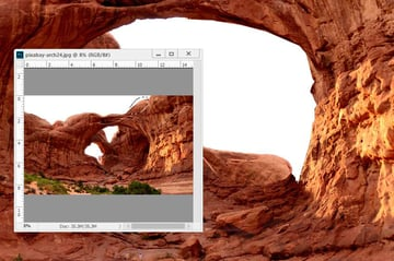 Photoshop Adjustment Layers - select small top arch detail