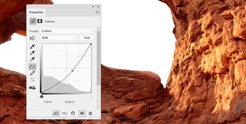 Photoshop Adjustment Layers - small arch detail curves