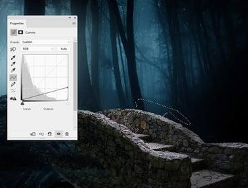 fantasy digital art - bridge curves