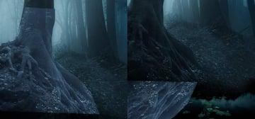 fantasy digital art - tree duplicate flip vertically