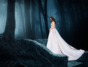 fantasy digital art - model dress masking 1