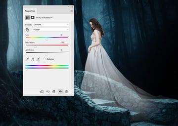 fantasy digital art  - model hue saturation 1