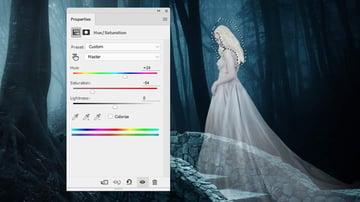 fantasy digital art - model hue saturation 2