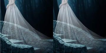 fantasy digital art - model dress details