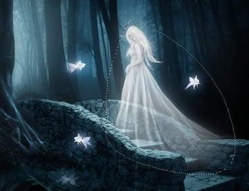 fantasy digital art - model glow 2