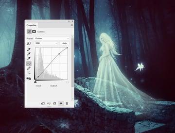 fantasy digital art - whole scene curves