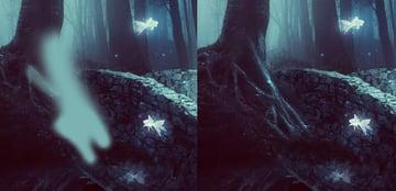 fantasy digital art - change color of tree details