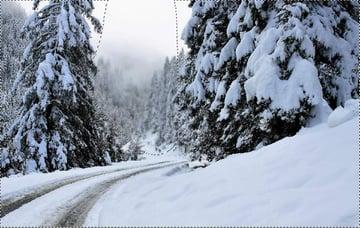 photo manipulation - winter gaussian blur masking