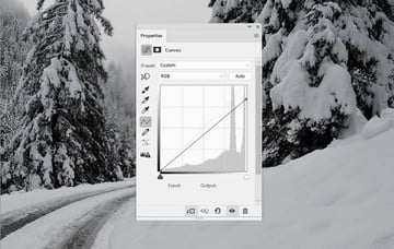 photo manipulation - winter curves 1