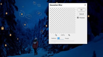 photo manipulation - lanterns gaussian blur 1