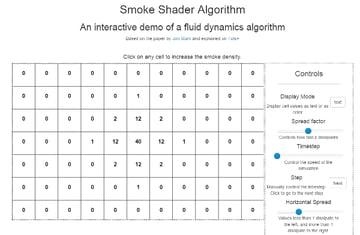 Smoke shader algorithm interactive demo