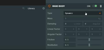Where to set rigid body type