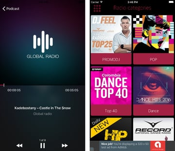 Global radio player app template