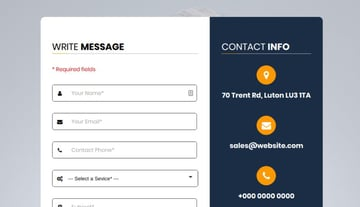 Web Forms contact page demo