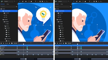 create a fade out effect with the opacity animator