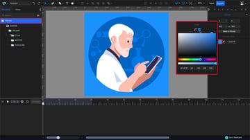 change the SVG canvas color