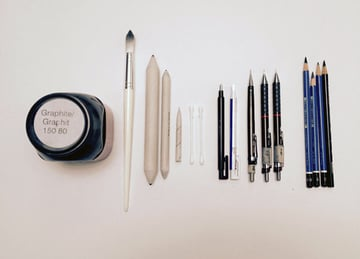 The additional tools you will need for rendering the drawing