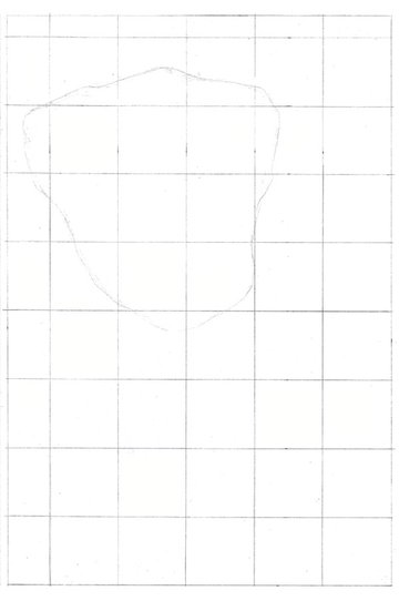 Begin drawing rough shapes to define the puppy