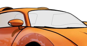 To create the interior of the car first draw out where the rear and drivers side window will be using the pen tool
