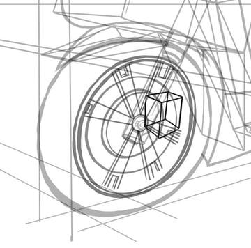 The brake calliper body starts with a cube
