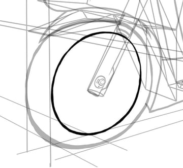 Simple shapes will again help you with the wheels