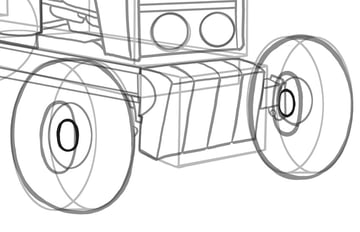 Perspective hides parts of the inner rims and hubs