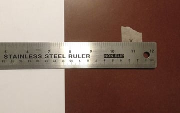 You will need a steel ruler to establish your vanishing points