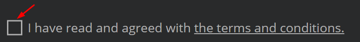The uncheched state of our custom checkbox